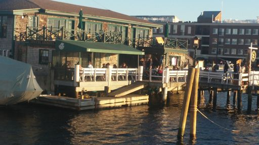 Waterfront restaurants and condos, Newport, RI